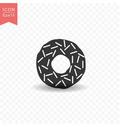 donut food icon simple flat style vector image