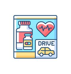 Drive through pharmacy rgb color icon vector