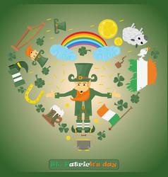 elements of irish design 1 for st patricks day vector image