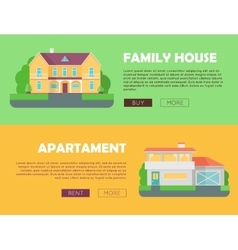 Family House Concept Modern Apartment Concept vector image