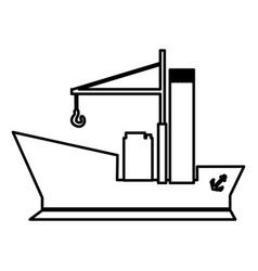 Figure ship maritime transpotation vector