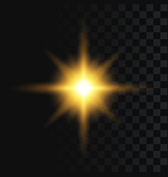 flash or star burst light effect on transparent vector image