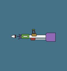Flat icon design collection machine gun bullet vector