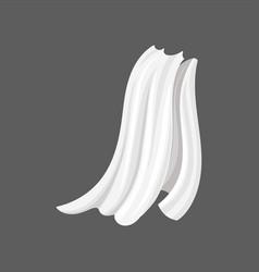 Flat of white silk cloth vector