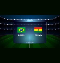 football scoreboard broadcast vector image