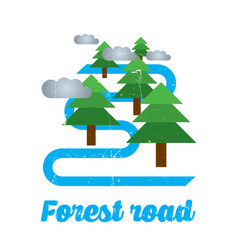 forest road design poster vector image