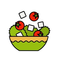 Fresh Greek salad A delicious bowl of Greek salad vector image