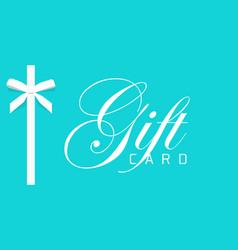 Gift card or or blue elegant voucher vector