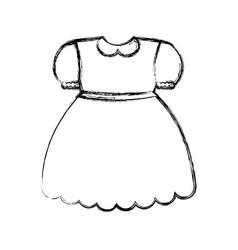 Girl dress icon vector