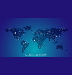 global connection business banner vector image