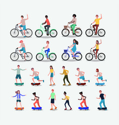 group of people practicing sports vector image