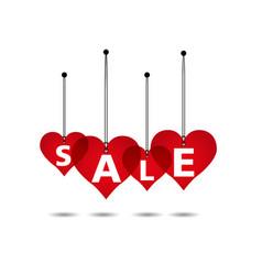 heart sale background vector image