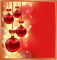 Holiday Christmas balls vector image vector image