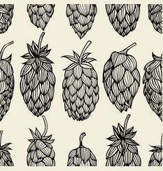 Hop beer seamless pattern vector