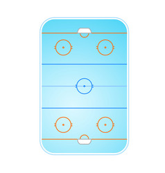 Ice hockey rink layout top view vector
