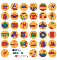 icons journey vector image