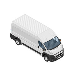 isometric commercial van icon isolated on a white vector image