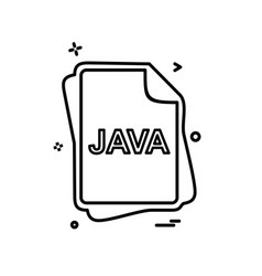 Java file type icon design vector