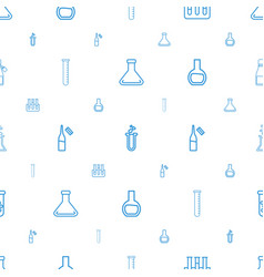 Lab icons pattern seamless white background vector