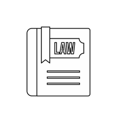 Law and justice book icon outline style vector image