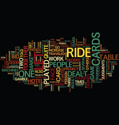 Let it ride text background word cloud concept vector