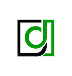 letter dg logo design template vector image