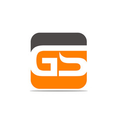 Letter gs modern vector