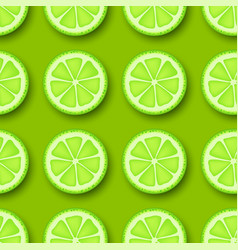 lime fruit seamless pattern vector image