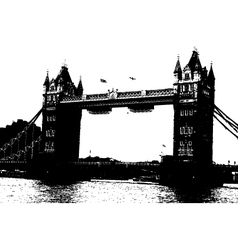 London bridge grunge vector