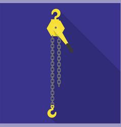 Manual car crane icon flat style vector