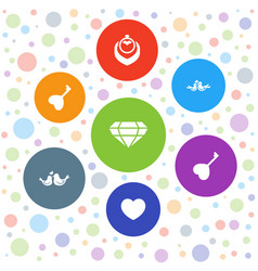 Marriage icons vector