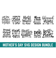mothers day svg womens cut file quotes mother vector image