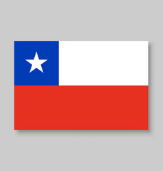 National chile flag vector
