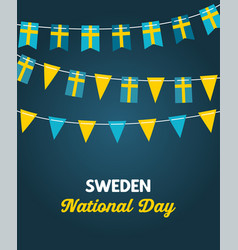 national day sweden independence day vector image