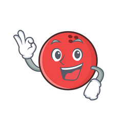Okay bowling ball character cartoon vector
