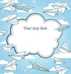 Paper planes frame vector
