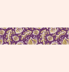 Pretty tossed leaves border seamless repeating vector