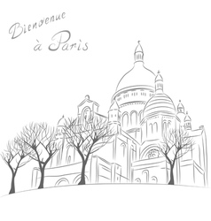 Sacre Coeur in Paris vector