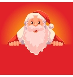 Santa Claus holding a sign with place for text vector image