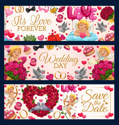Save date wedding date congrats love forever vector