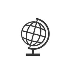 school globe stand icon silhouette design vector image