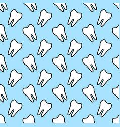 seamless geometric pattern with teeth vector image