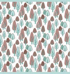 seamless stylish pattern with cute hand drawn vector image