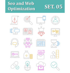 Seo and web optimization icons vector