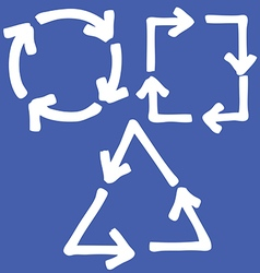 set of arrow 4 vector image