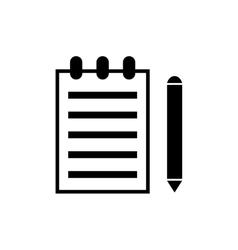 Sheet with pen vector