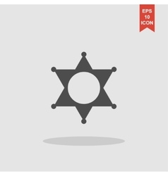 Sheriff star Collection modern trend concept vector image