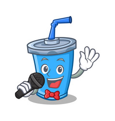 Singing soda drink character cartoon vector