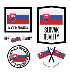 slovakia quality label set for goods vector image