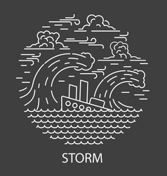 storm natural disaster vector image